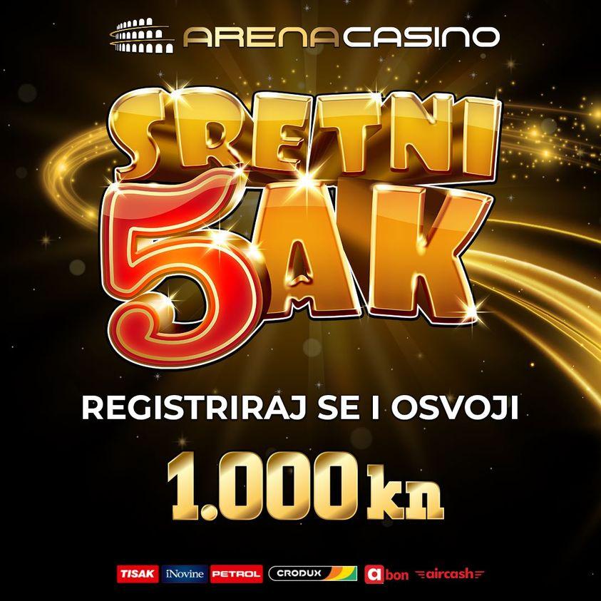 arena casino, igre na sreću, slot aparati, casino igre, online casino, sretni petak